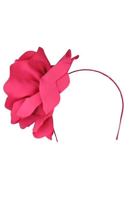 Amy Fascinator - Hot Pink