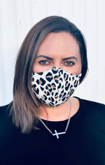 Glamour Face Mask - Animal Denim