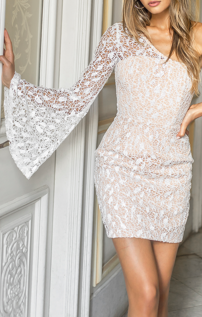 Confetti Dress - White