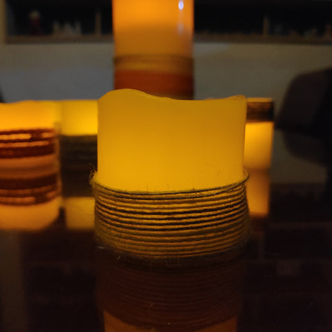 real wax flameless candle