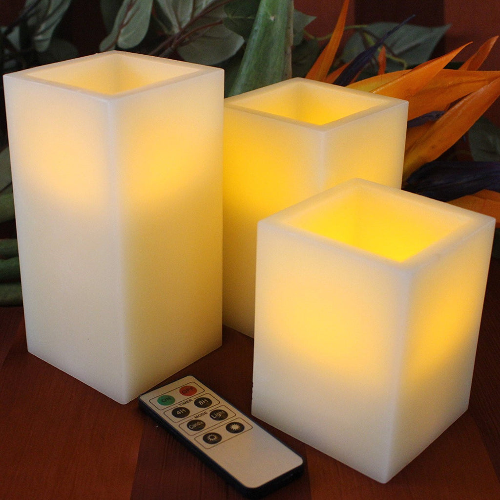 how to set the timer on flameless candles