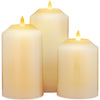 Image of NEW 3D Flame Technology, Set of 3 LED Candles with Timer