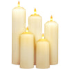 Image of NEW 3D Flame Technology, Set of 5 LED Candles with Timer
