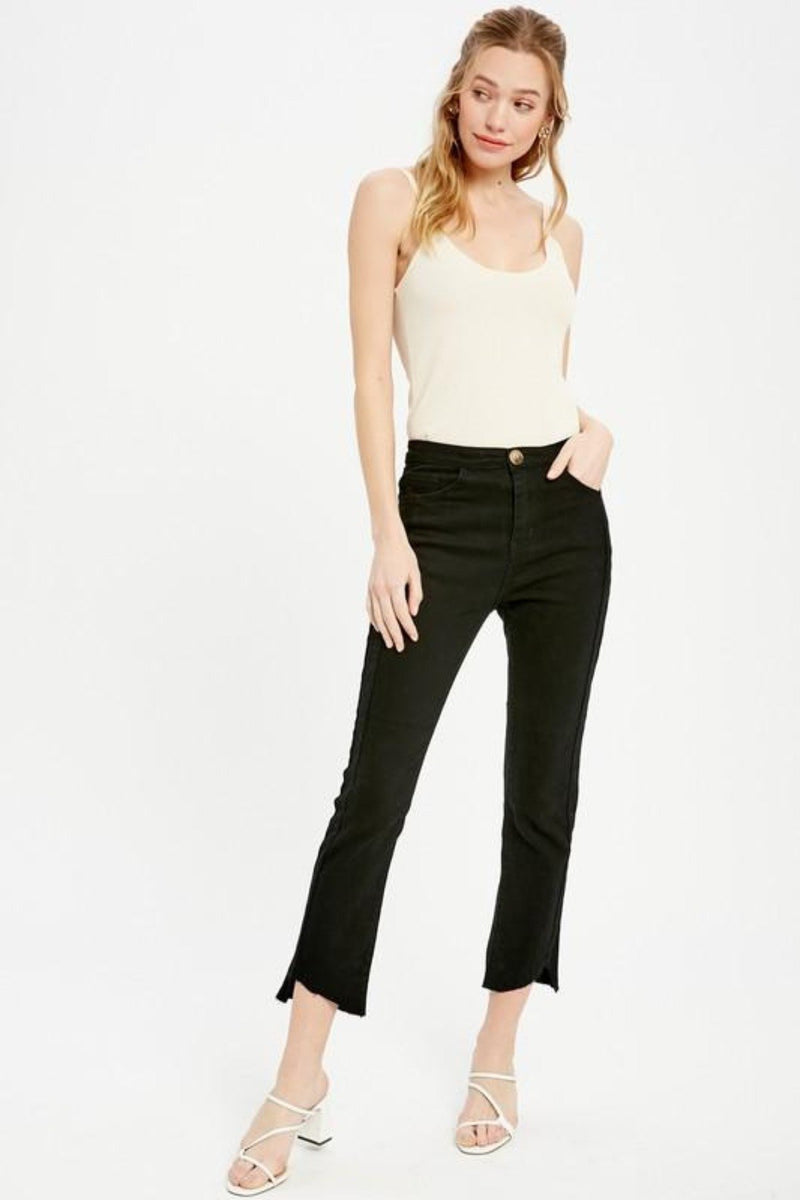 GET THE SCOOP DOUBLE STRAP RIBBED BODYSUIT