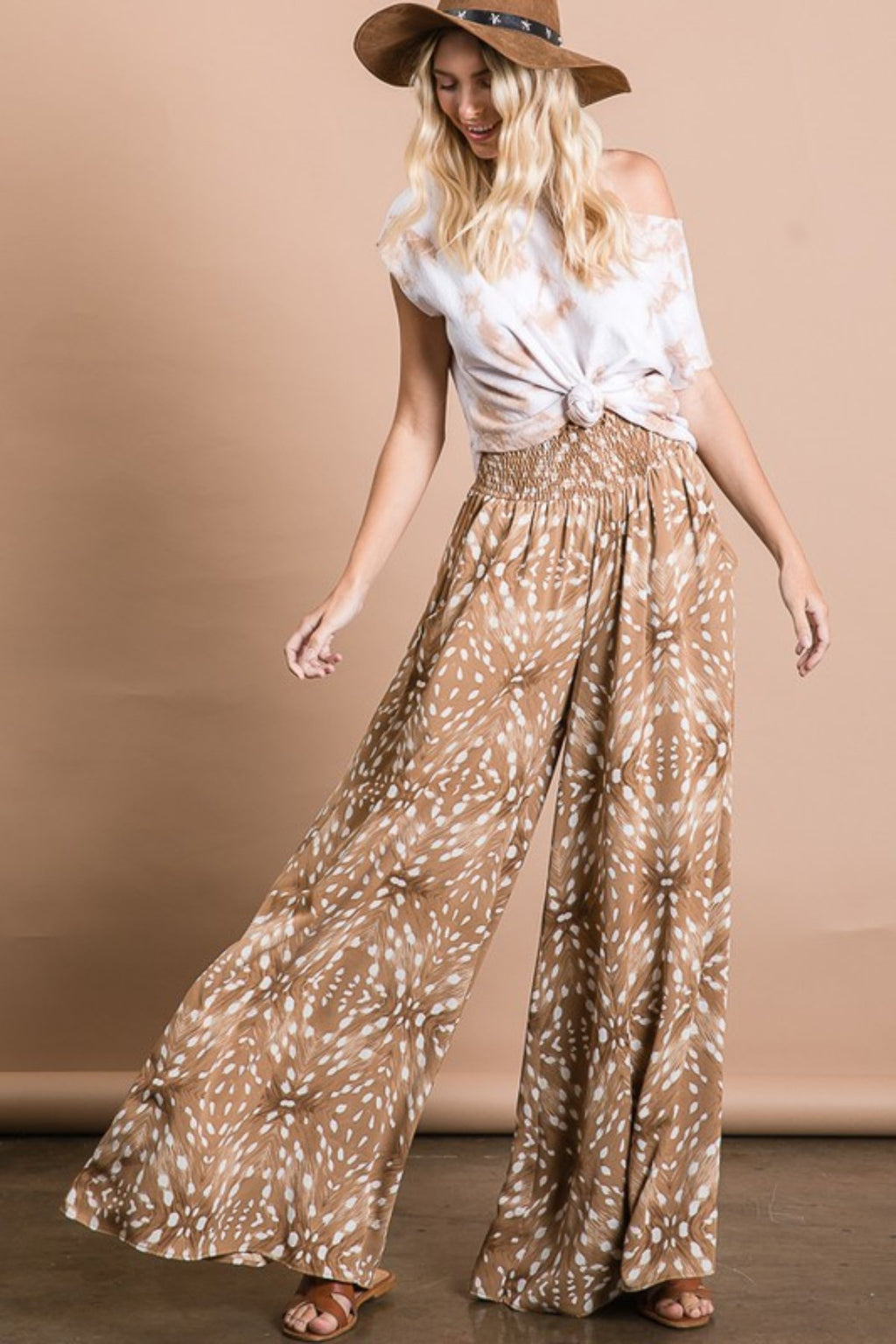MULTI PRINTED SMOCKED POCKETED PALAZZO PANTS - [jayden_p]