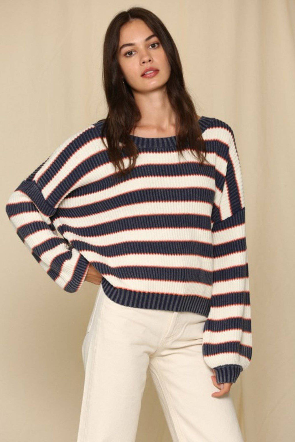 COLOR THEORY COTTON STRIPED SWEATER - [jayden_p]