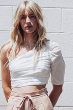Significant Style Rouched One Shoulder Crop Top - [jayden_p]