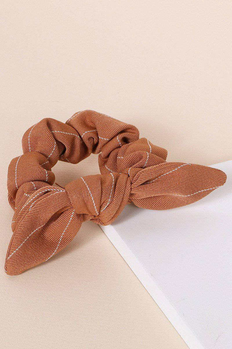 Hannah Striped Woven Hair Scrunchy - [jayden_p]