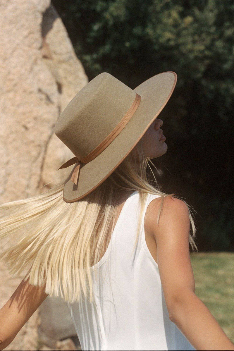 LACK OF COLOR TEAK RANCHER BOATER HAT - [jayden_p]