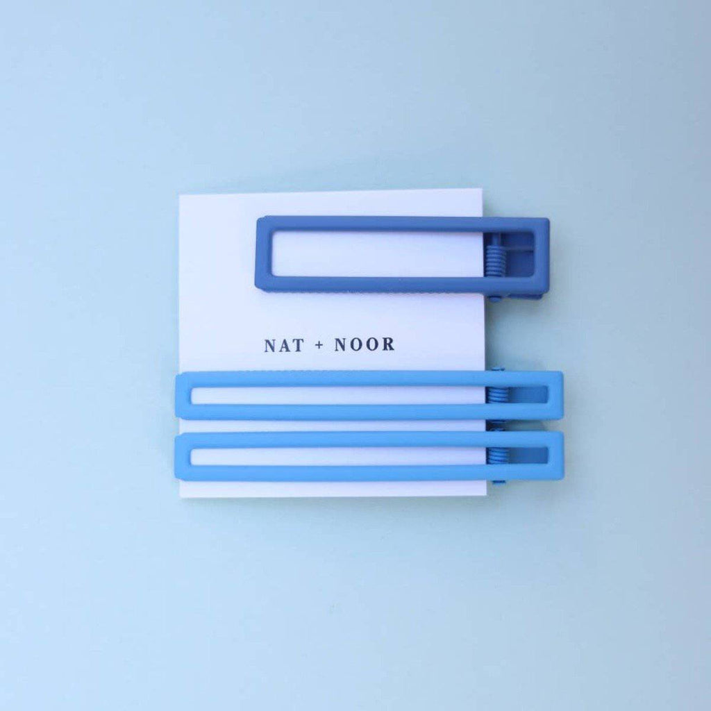 YARROW IN BLUE TONES HAIR CLIP SET - [jayden_p]