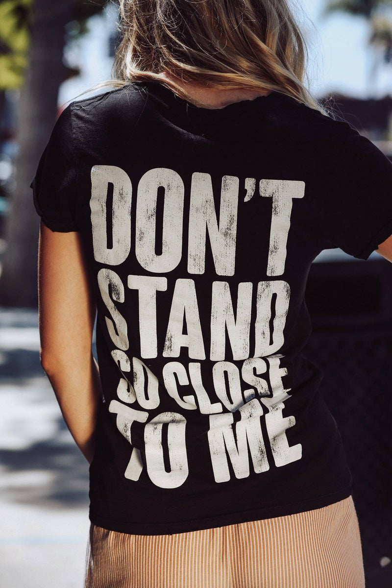 THE POLICE DON'T STAND SO CLOSE BURN OUT TEE - [jayden_p]