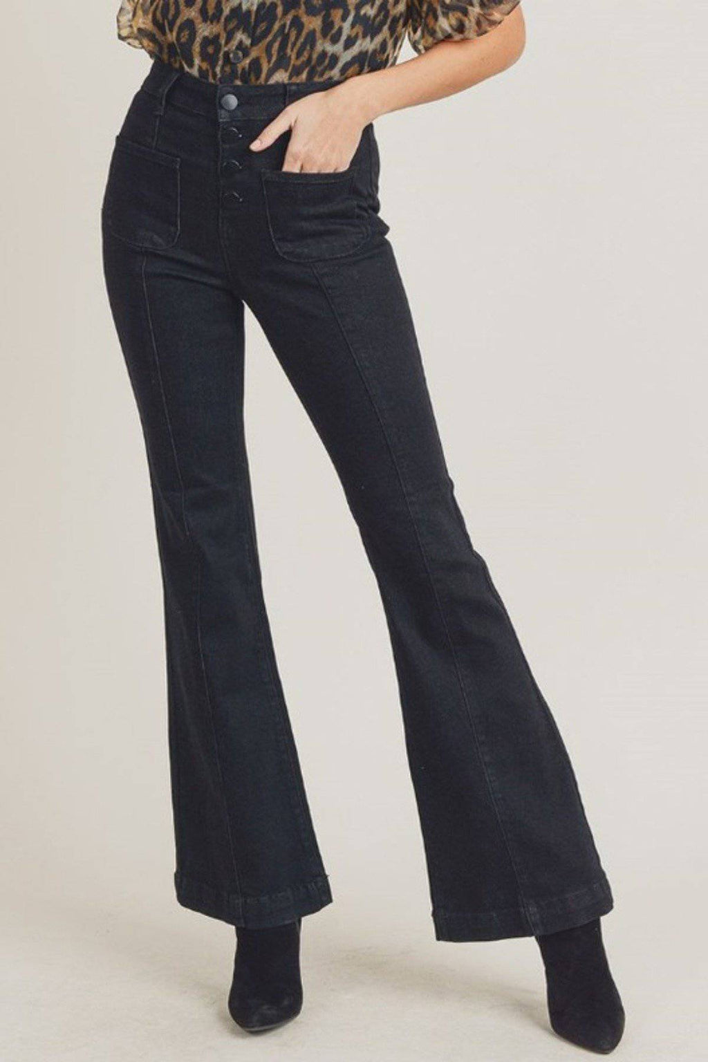 FULL OF LIFE HIGH RISE BELL BOTTOM JEANS - [jayden_p]