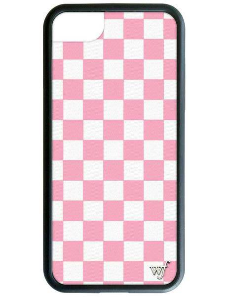 Wildflower Pink Checkers iPhone Case - [jayden_p]