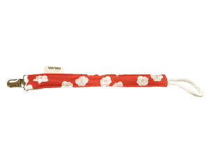 Organic Cotton Pacifier Clips - Coral Floral