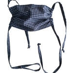 Organic Cotton Adult Masks - Black/Gray Gingham