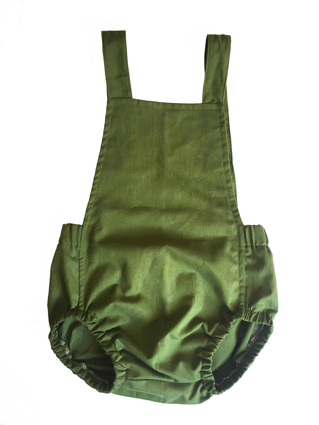 Organic Cotton Romper - Forest Green
