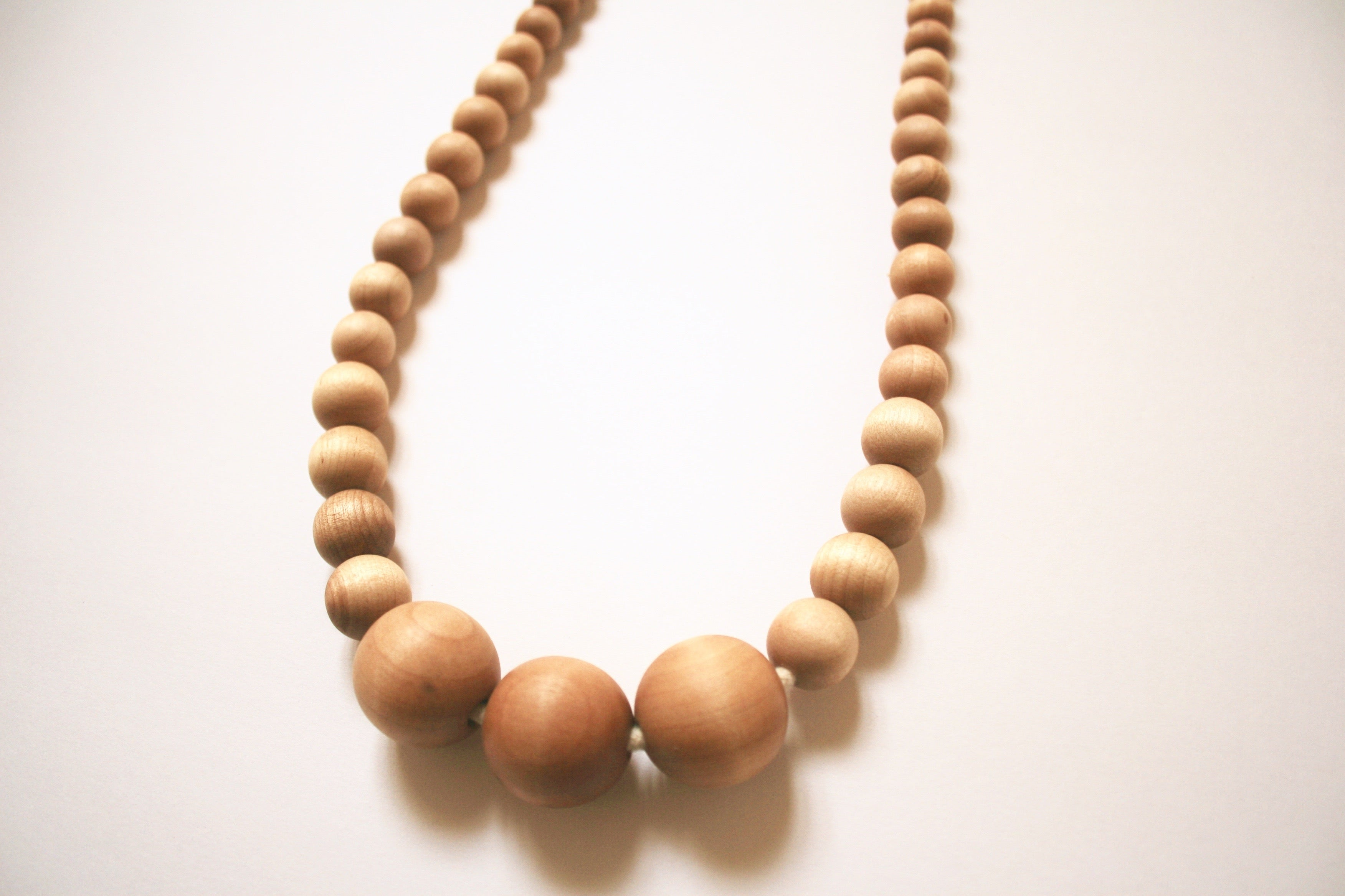 Maple and Birch Bead Necklace