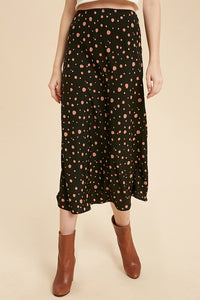 Spotty Dot Midi Skirt - in M & L