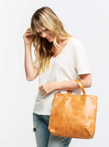 Abera Convertible Backpack in Cognac