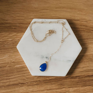 Azure Drop Necklace