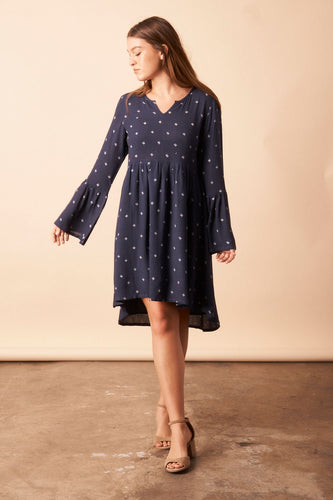 Baby Cacti Bell Sleeve Dress - in Small