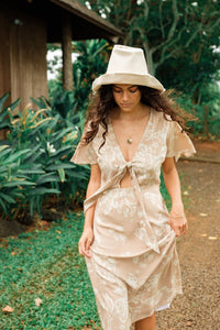Cleo Dress in Watercolor Nude