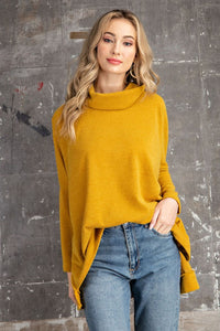 Knit Tunic Top in Mustard