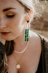Emerald U Earrings
