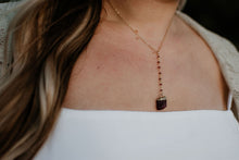 Rough Ruby Drop Necklace