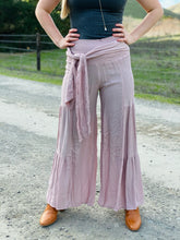 Desert Rose Flowy Pants with Waist Tie