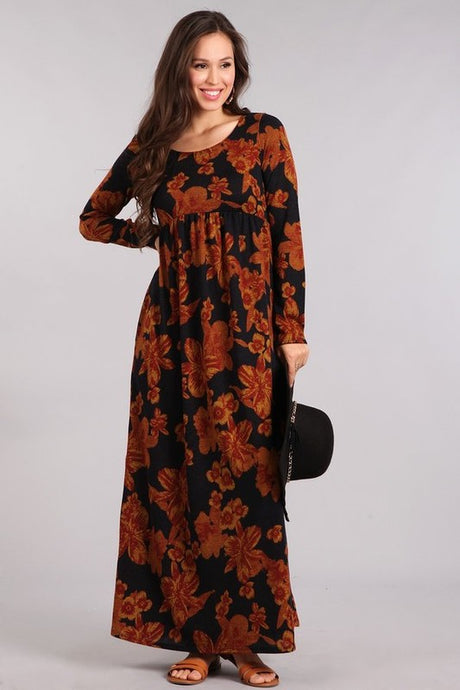 Floral Maxi Sweater Dress