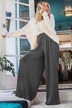 Flowy Wide Leg Pants in Charcoal - Ultra Comfortable
