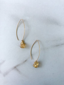 Rough Citrine Earrings