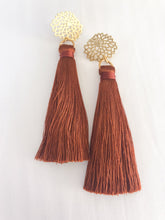 Floral Tassels in rust