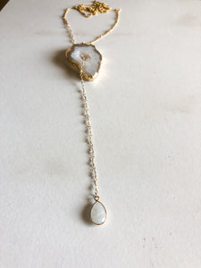 Agate Long Necklace