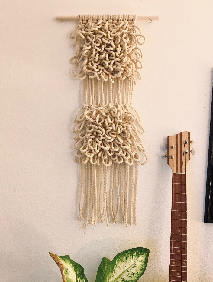 Loopie Long Macrame Wall Hanging