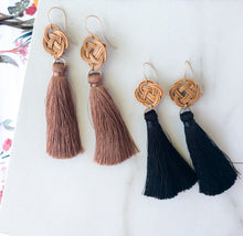 Dusty Rose Rattan Tassels