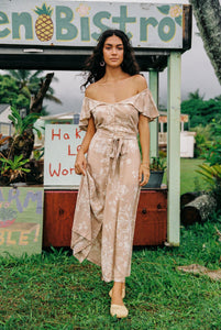 Indah Rose Maxi in Watercolor Nude