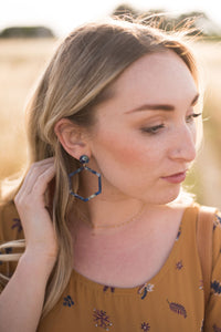 Indigo Hex Earrings