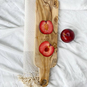 Long Olive Wood Charcuterie Board