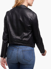 Maha Leather Jacket in Black & Whiskey