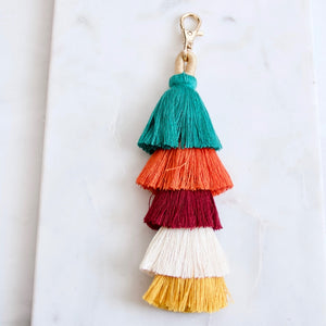 Multi-colored Boho Tassel Key Chain