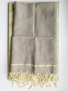 Natural Cotton Towel in Mink
