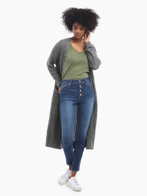 Neva Long Cardigan in Grey