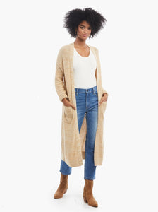 Neva Long Cardigan in Tan
