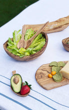 Olive Wood Salad Serving Set