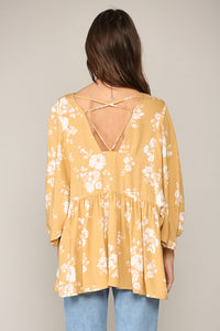 Bight Summer Floral Tunic