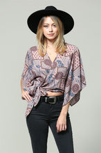 Boho Multi Wrap Top in Lavender