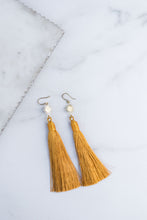 Golden Sun Tassel Earrings