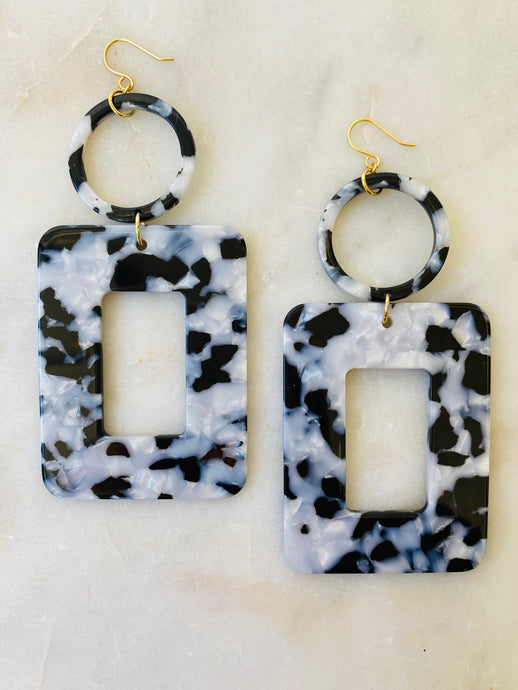 Cookies & Cream Statement Earrings